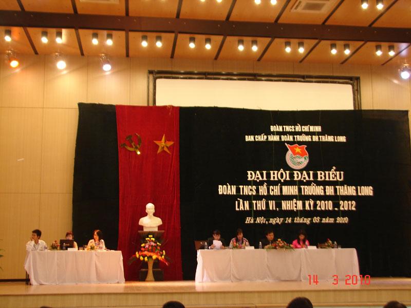 DSC07781 Đại hội Đại biểu Đoàn TNCS HCM Trường ĐH Thăng Long nhiệm kì 2010 2012