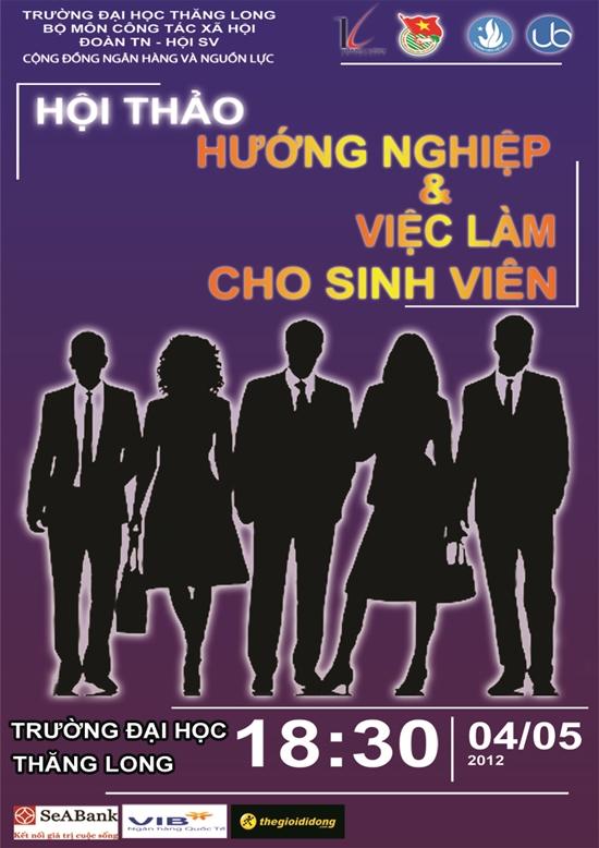 HoiThaoViecLam Hội thảo hướng nghiệp và việc làm cho sinh viên Thăng Long