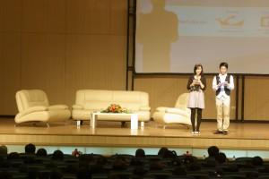 """Hội thảo """"Lập Nghiệp"""" được mở đầu bằng một Slide giới thiệu về trường ĐH Thăng Long"""
