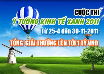 banner news kinhtexanh20112 Cuộc thi Ý tưởng Kinh tế Xanh 2011