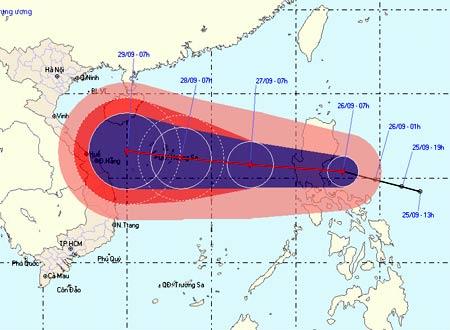 bao Tối nay bão cấp 8 đi vào biển Đông