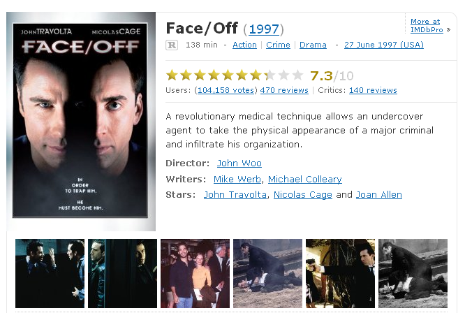 faceoff1997imdb1291502521958.700x0 Face off (1997)[Viet Sub][Xem Online]