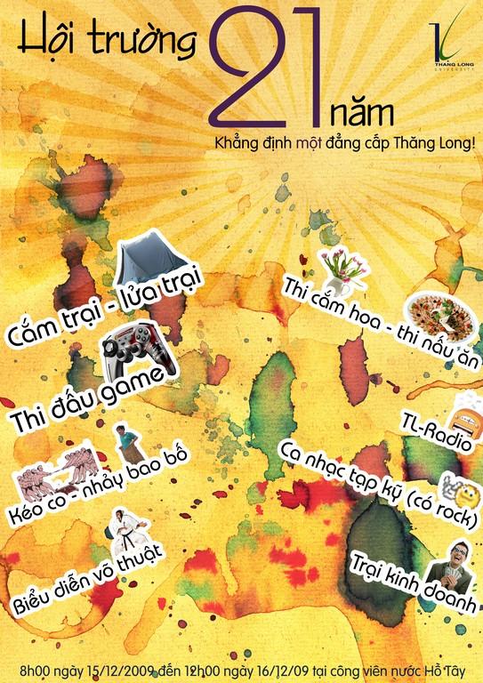 poster3 Các chương trình tại Hội trại sinh viên Thăng Long 2009